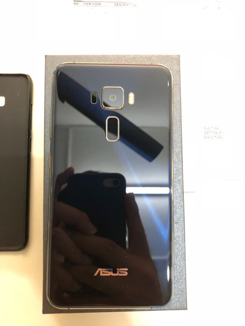 Asus Zenfone 3 Ze552kl 55inch Black Blue Mobiles Tablets Photo