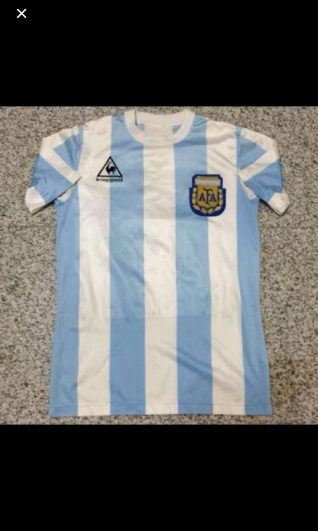 5503d4253 Authentic Le Coq Sportif Vintage Argentina Maradona Jersey Shirt ...