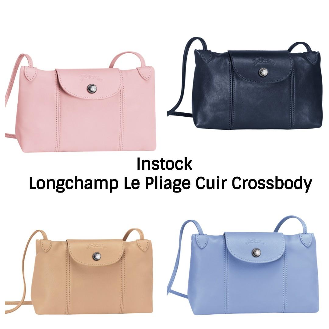 Authentic Longchamp Le Pliage Cuir Crossbody Sling Bag c7919e6f33bf4