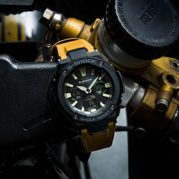 9117afa6abce Authentic Original G-Steel GST-S120L Black Yellow Tough Solar ...