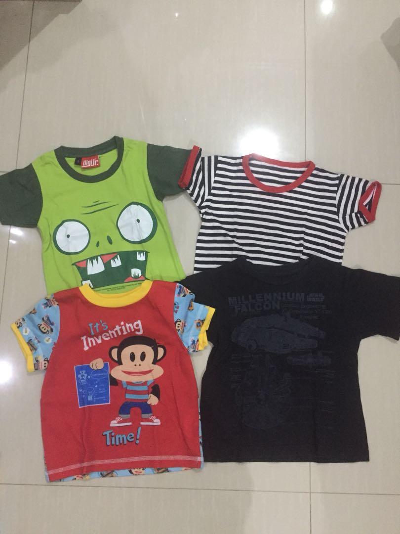 Baju 4pcs size 2-3 thn