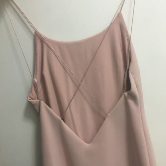 Bec and bridge pink cross back dress