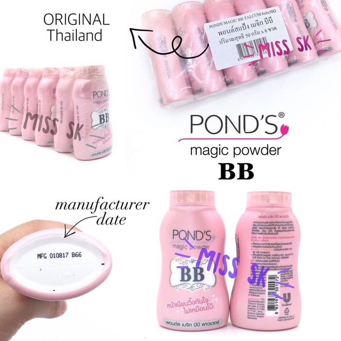 BEDAK TABUR TERBEST SELLER !!! Pond's Magic BB powder dengan double UV protection (made in Thailand 100% buatan pond's