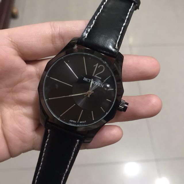 Bethoven黑色手錶