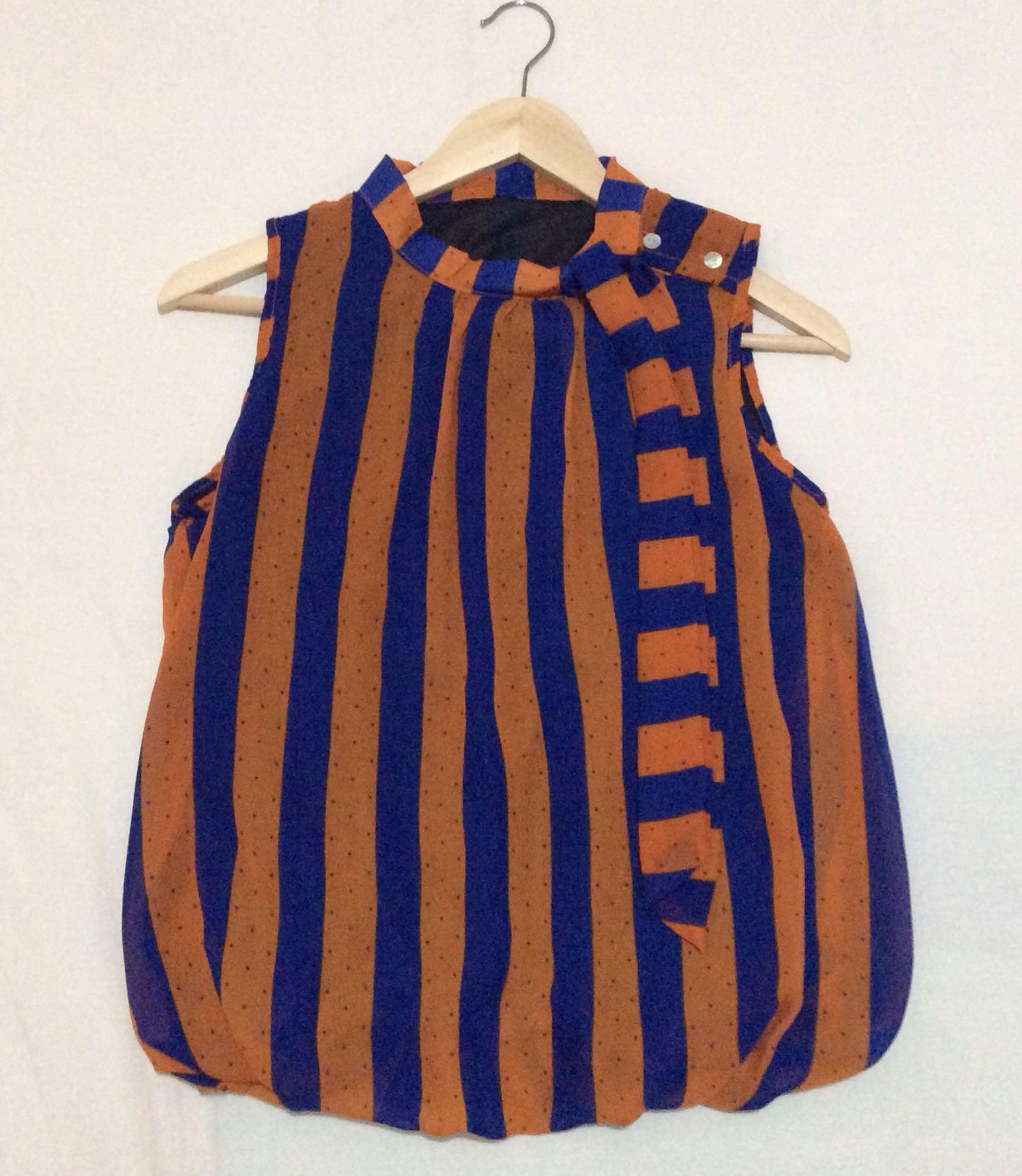 Blue Orange Stripe