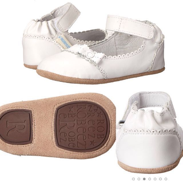 BN Robeez Baby Girl White Leather Mary