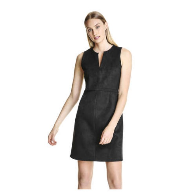 Brand New with tags Black suede dress