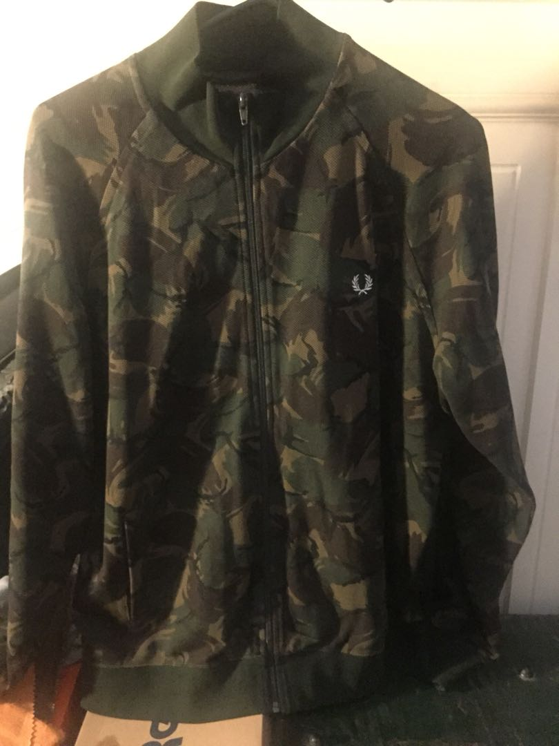 Camo Fred Perry zip up lad neck jacket