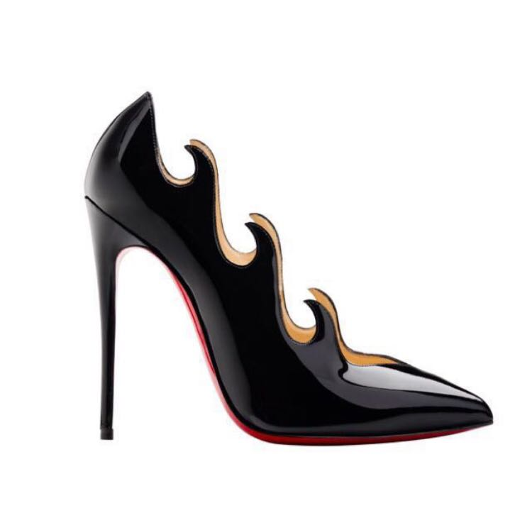 Christian Louboutin limited edition flame heels