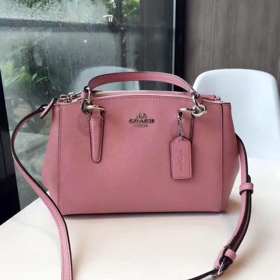 ab8573b9cea5 Coach Mini Christie Carryall - pink