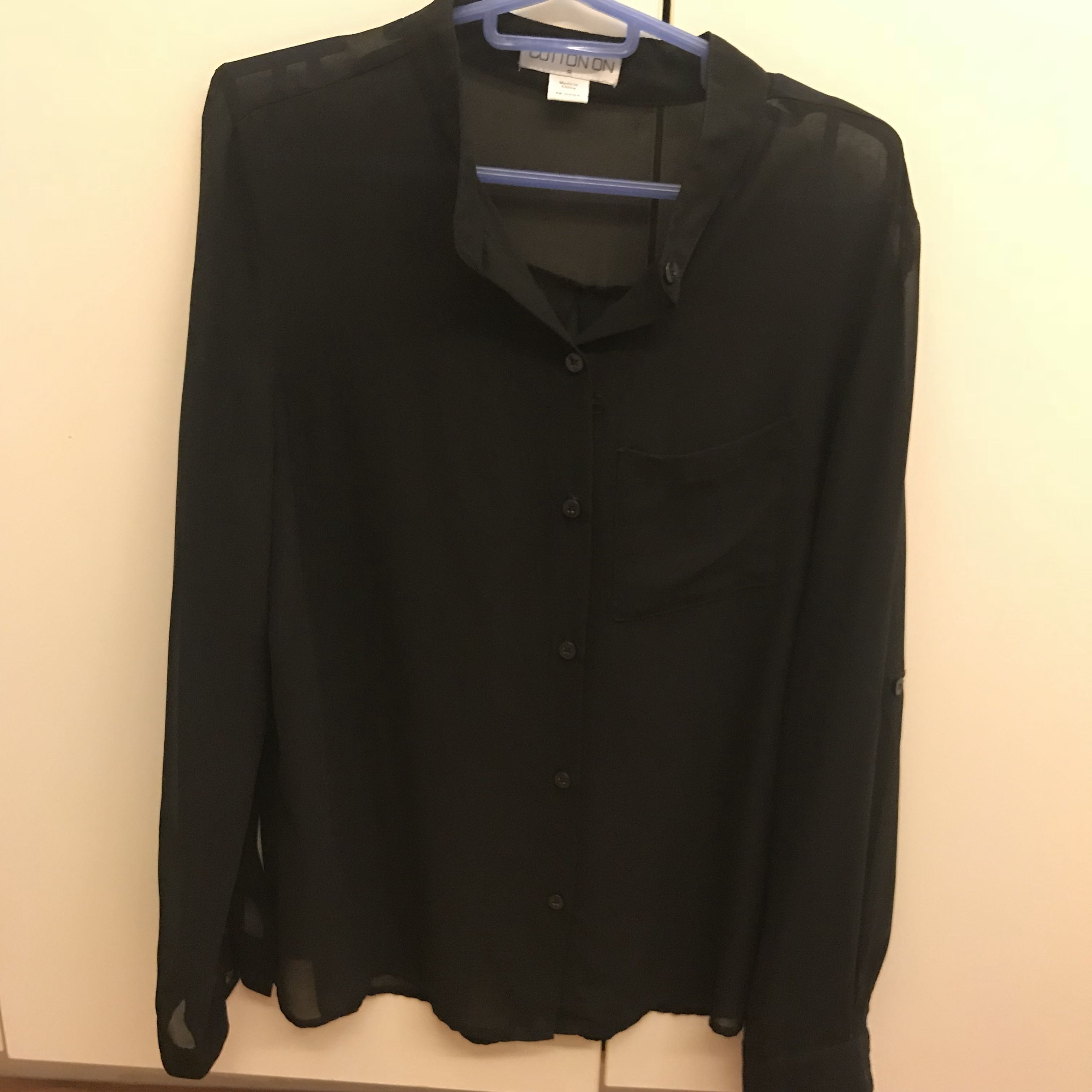Cotton On black sheer top