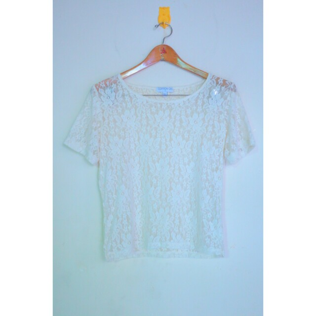 Cotton on lace tee