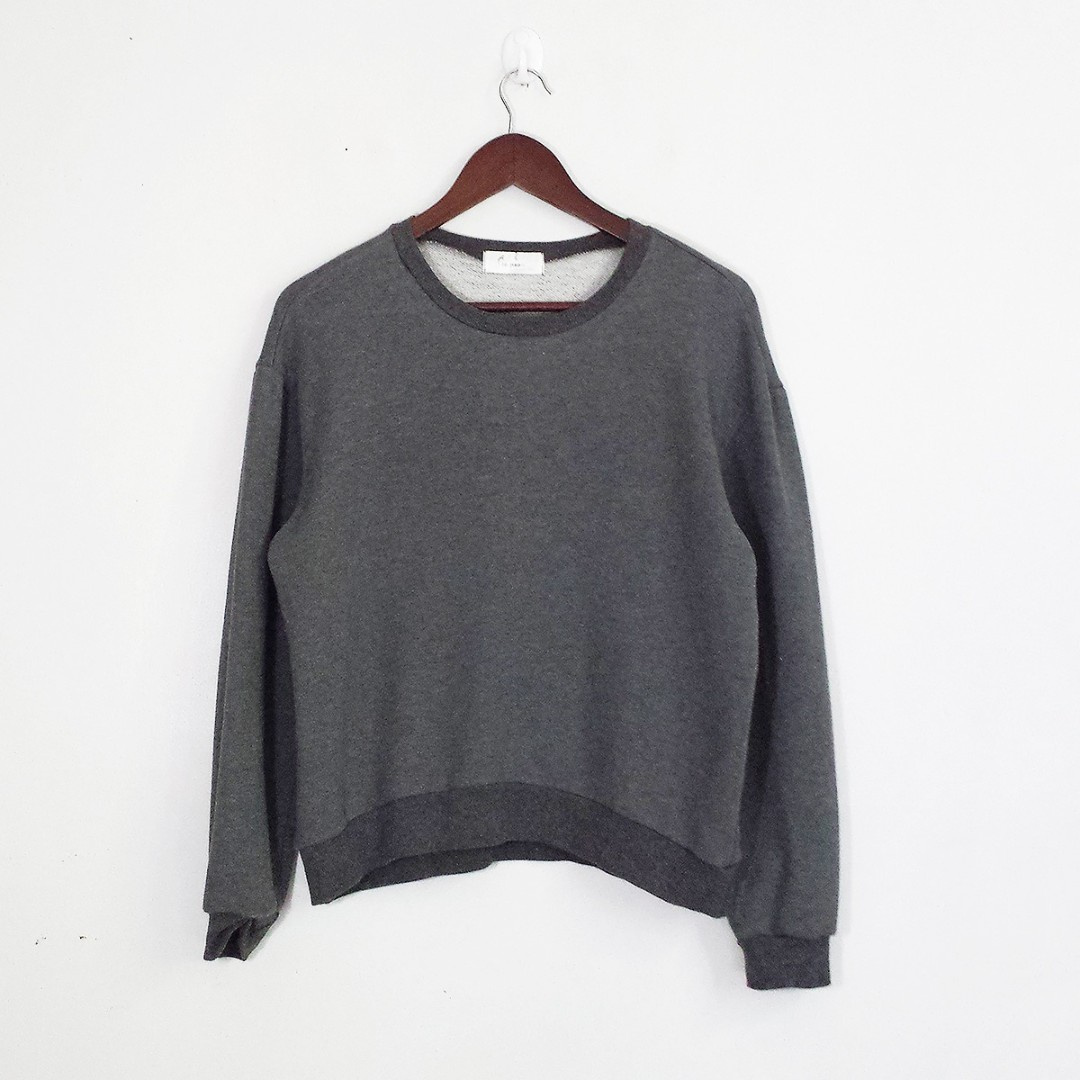 [RESERVED] Dark Gray Sweater Pullover Top Blouse