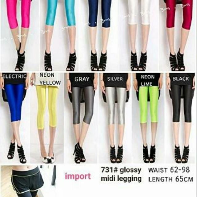 df midi glossy legging
