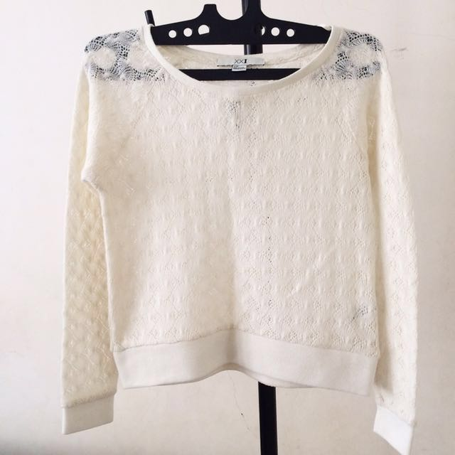 F21 Laces Sweater