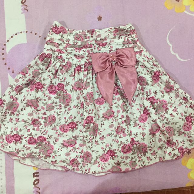 Floral Bow Skirt