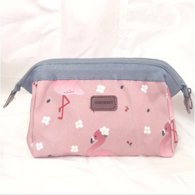 FREE POS CLEARANCE ! Ready stock Flamingo Makeup Pouch Bag
