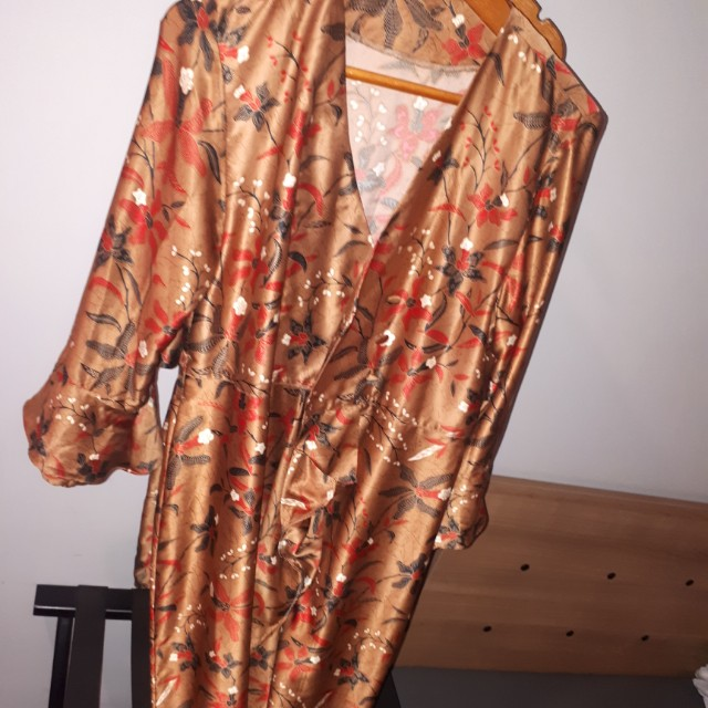 Gamis or long dress batik custom