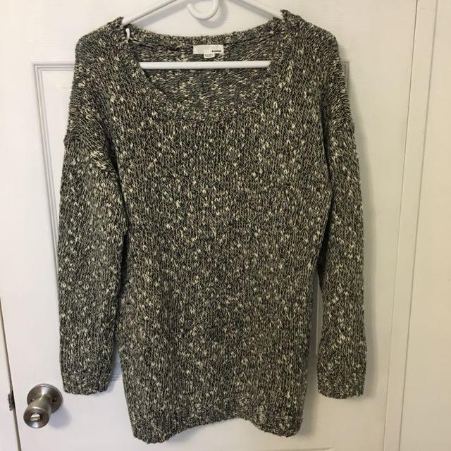 GARAGE  black wide neck sweater