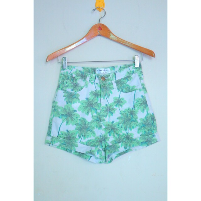 Green palm hw shorts