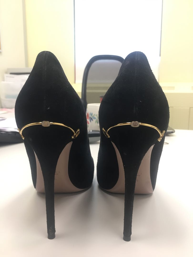 Gucci Heels - Black Suede - Size 40.5 (fits a 10)