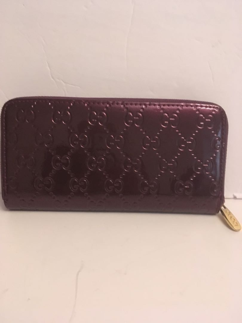 Gucci purple GG wallet