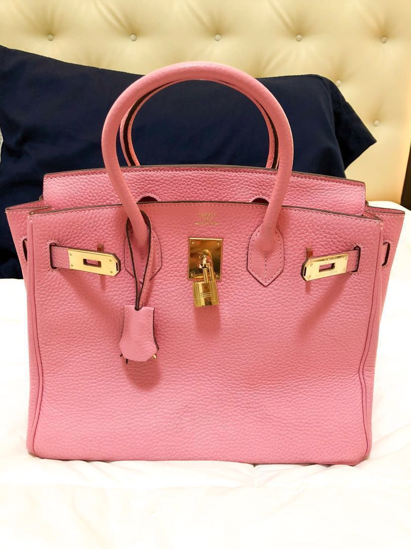 Hermes birkin 25cm in Rose Tyrien gold hardware
