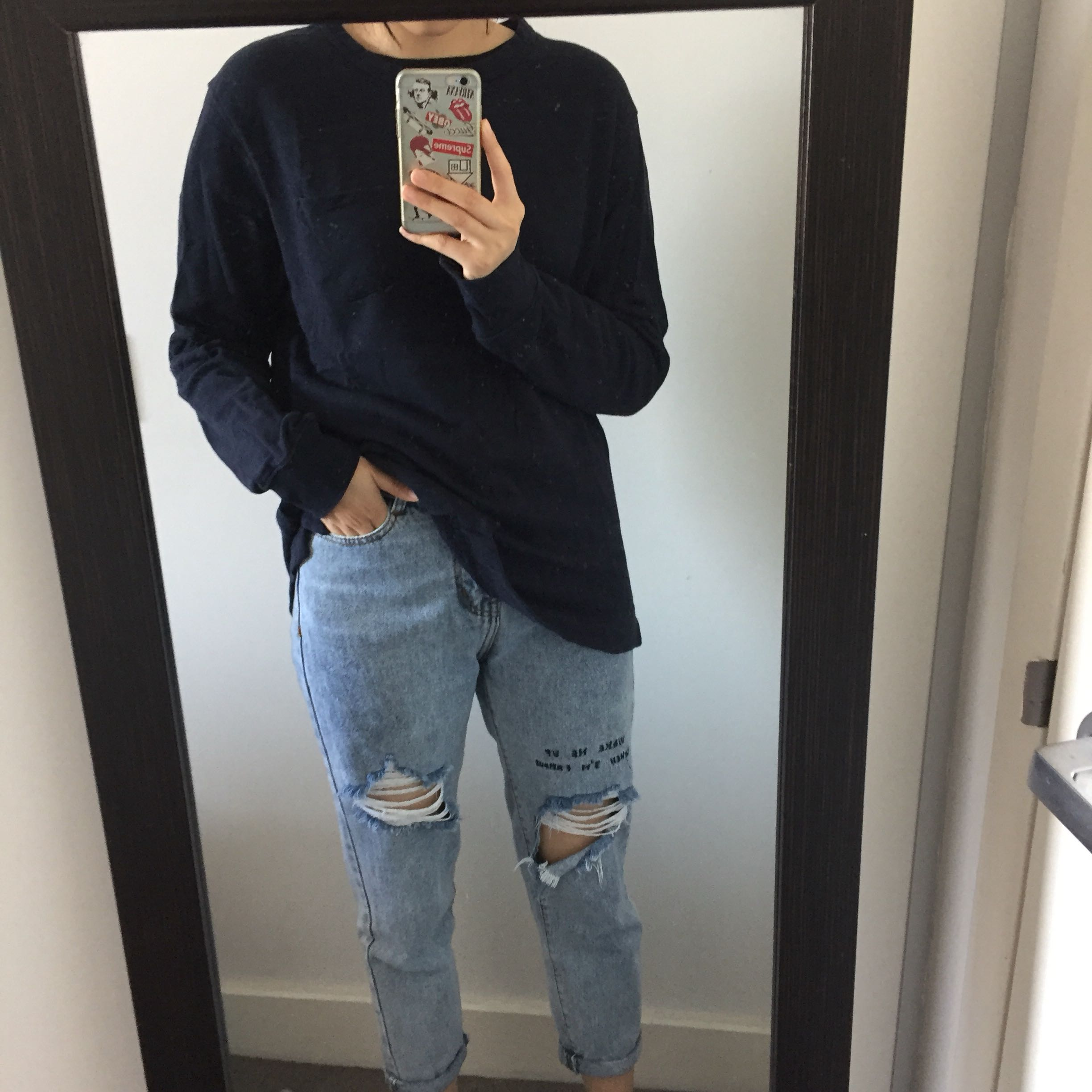 H&M Navy Jumper