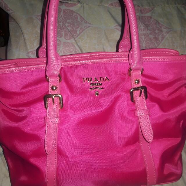 Hot Pink Prada bag
