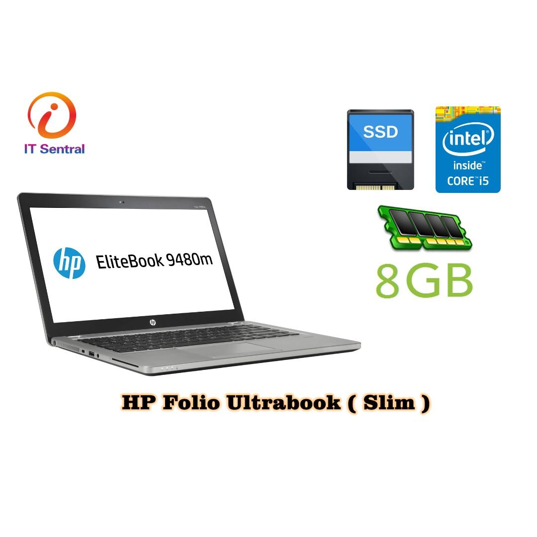 HP Folio 9480m Intel i5 4310U / 8GB RAM / 180GB SSD Business Laptop