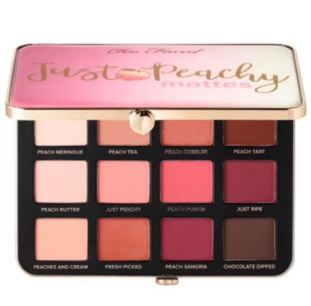 Instock Authentic Too Faced Just Peachy Mattes Eyeshadow Palette