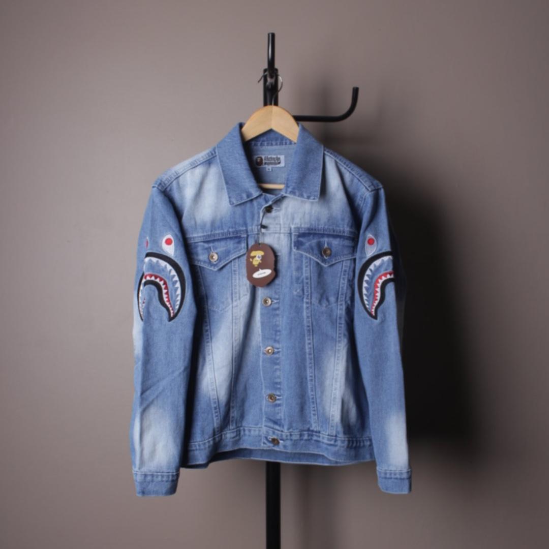 Jacket Denim A Bathing Ape Bape Blue Wash