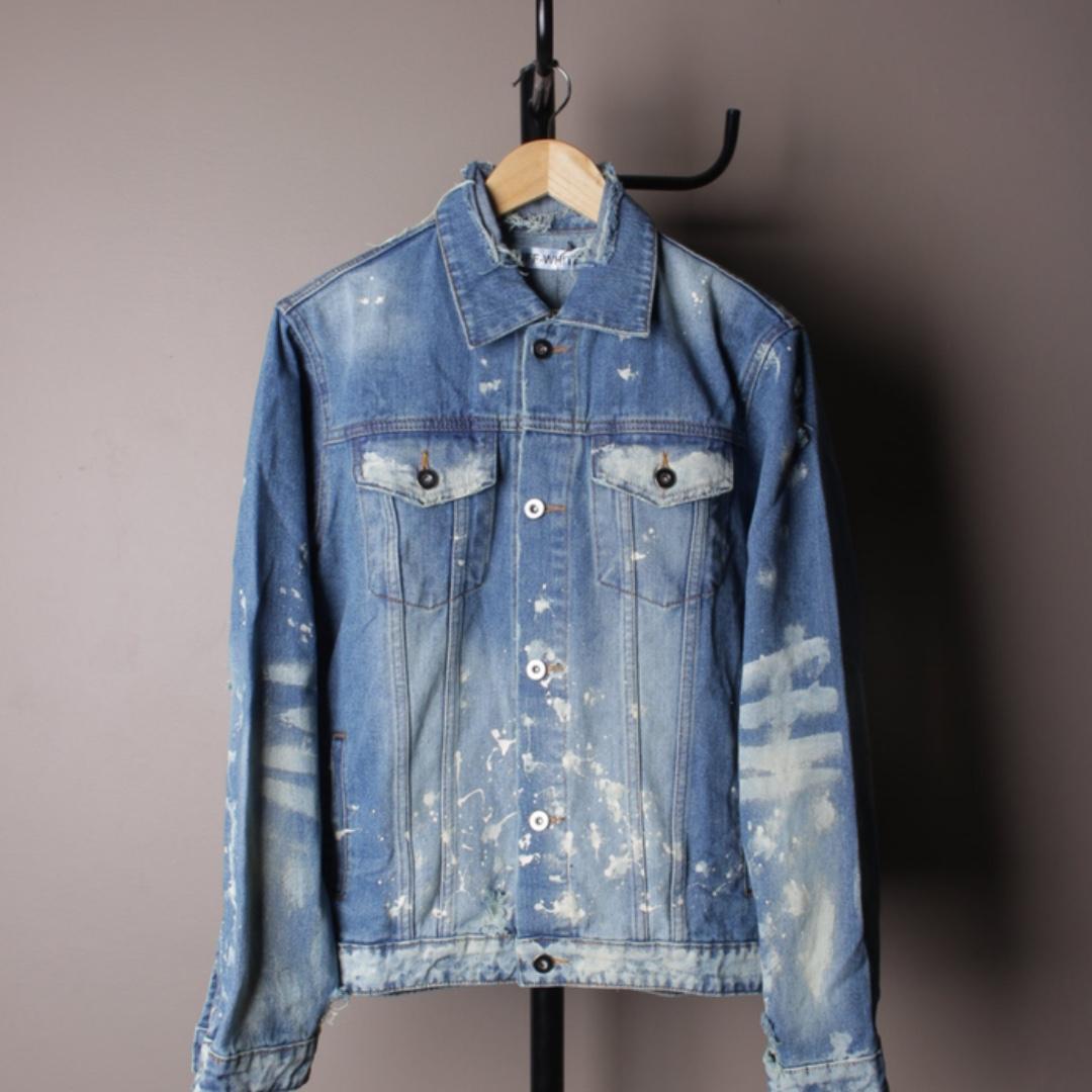Jacket Denim Jeans OFF WHITE Vintage Paint