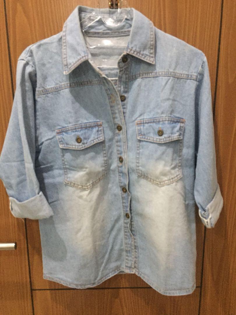 Kemeja jeans no brand
