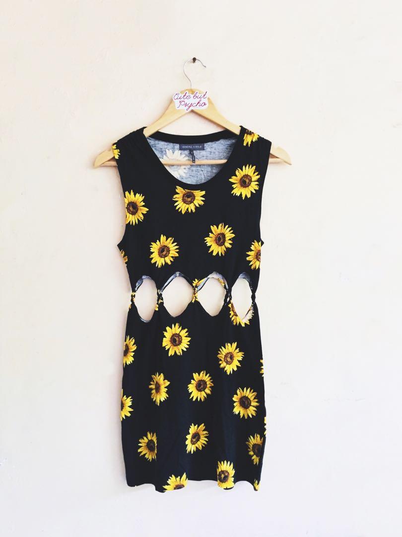 Kendall & Kylie Pacsun Sunflower Sexy Beach Dress