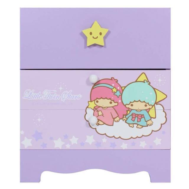 三麗鷗KIKILALA雙子星繽紛款二抽收納盒 置物盒 桌上盒 小物盒 飾品盒