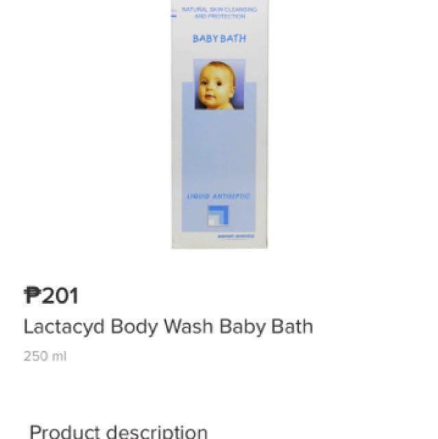 Lactacyd baby wash