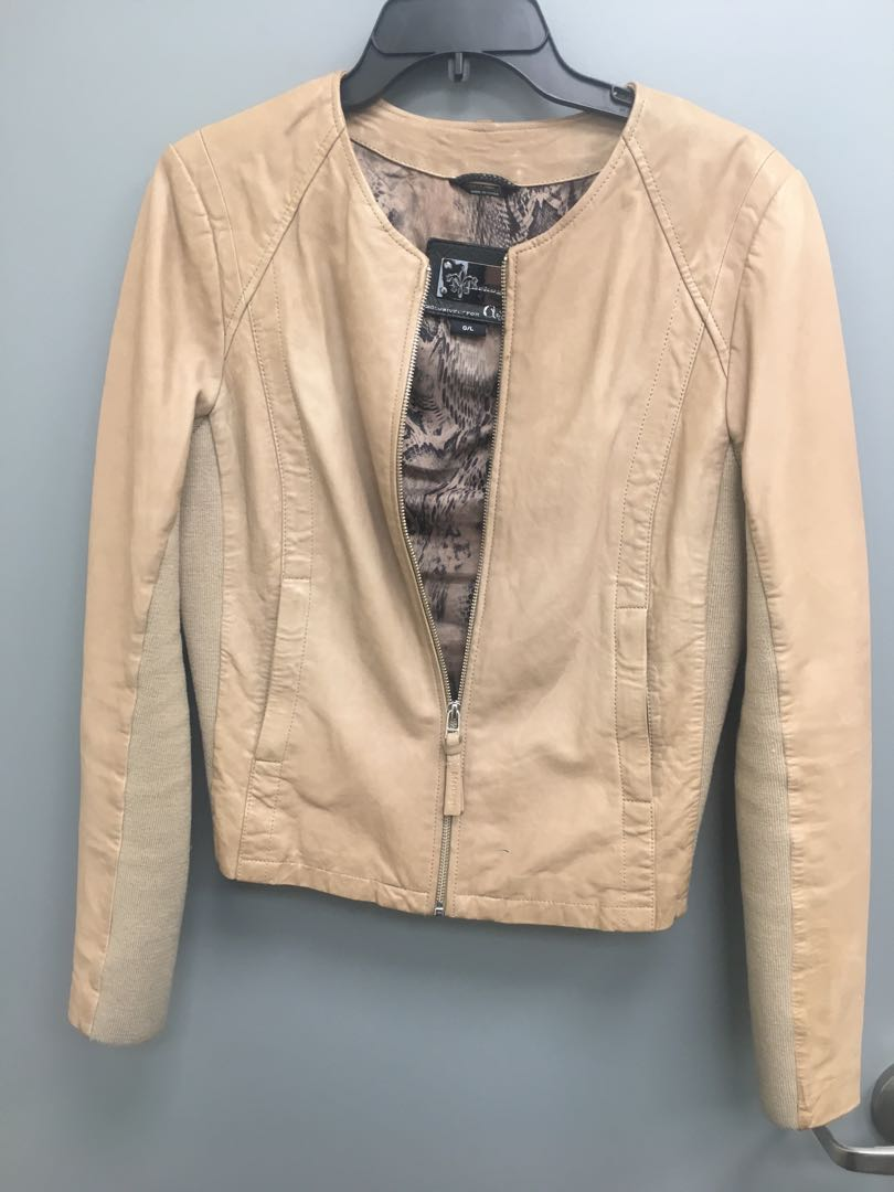 Leather - Mackage for Aritzia Jacket - Nude/Camel Colour