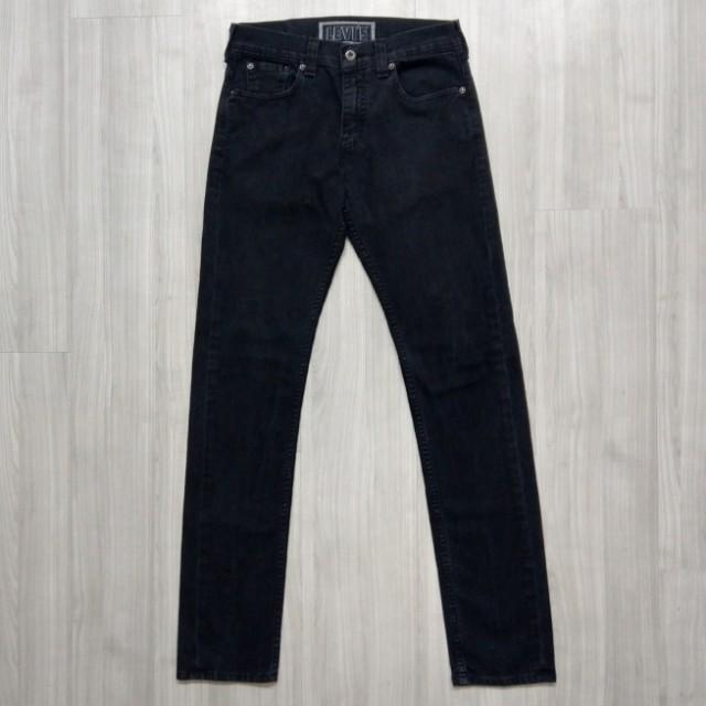 Levi's levis 04511-4408 w30 L32 黑色宅版牛仔褲 511 510 501