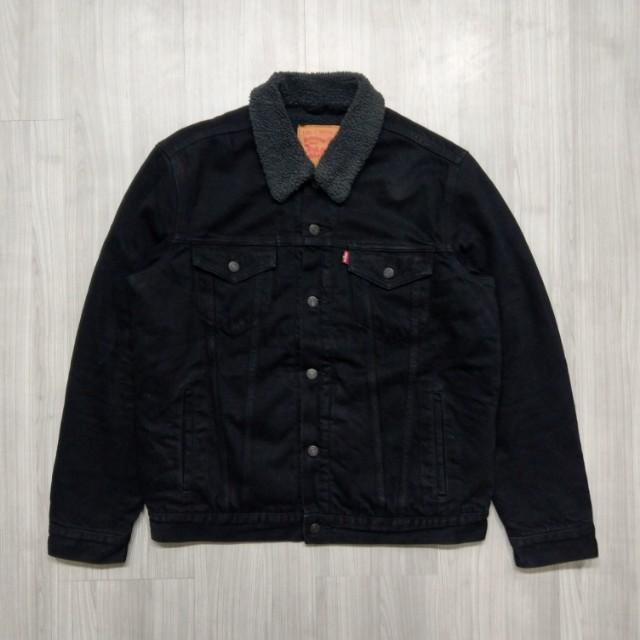 Levi's levis. 70598-0032 L號黑色厚舖棉外套