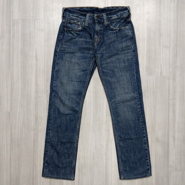 Levi's levis SQ522-0007 w31 L34 刷色直筒牛仔褲 522 523 512