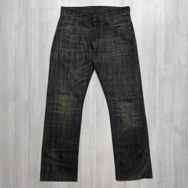 Levi's levis SQ523-0056 w31 L34 黑色直筒牛仔褲  523 512 534