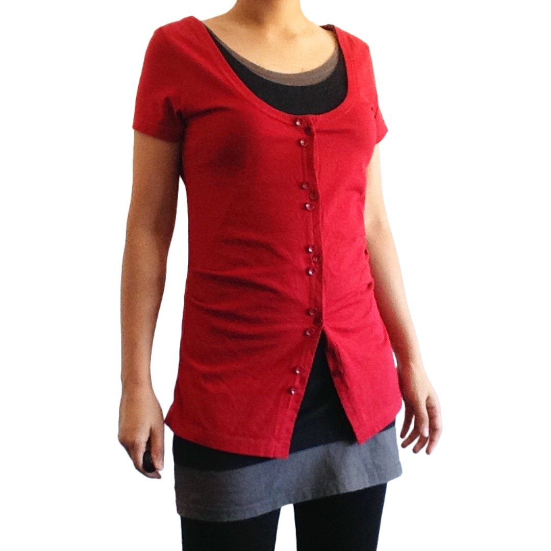 Long Form Red Tee