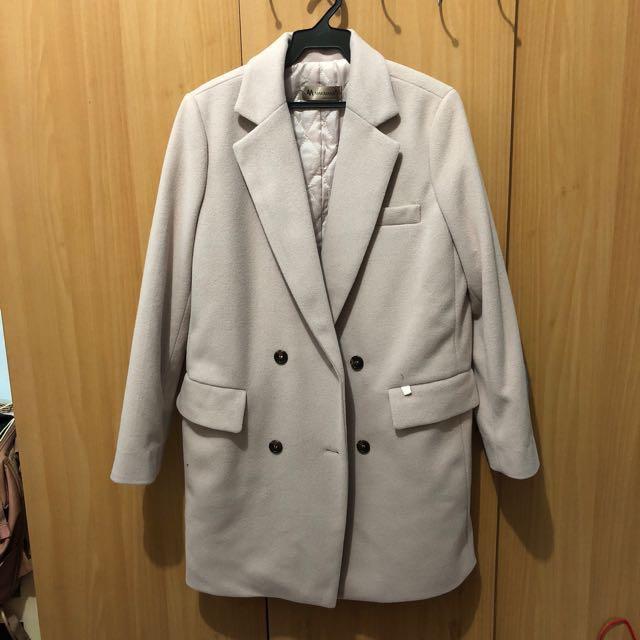 降價🍁全新正韓makmarks毛呢大衣外套