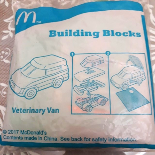 McDonald Happy Meals Toys Building Blocks Veterinary Van
