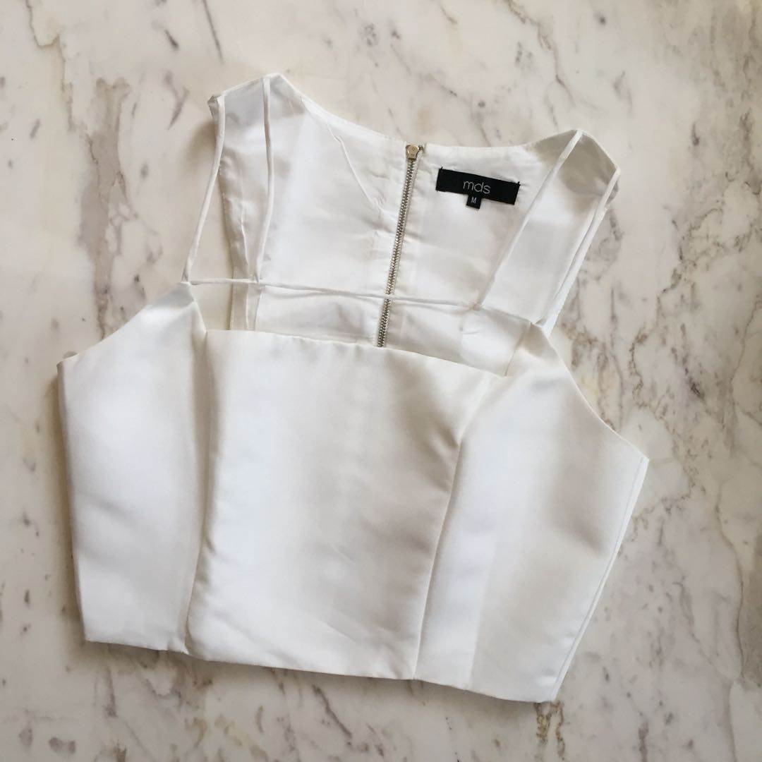 MDS White Cropped Top