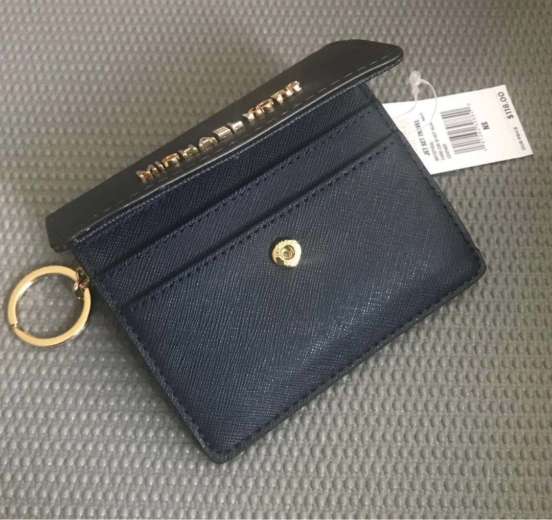 4e920a197a85 Michael Kors Jet Set Travel Card Case ID Key Holder in Navy ...