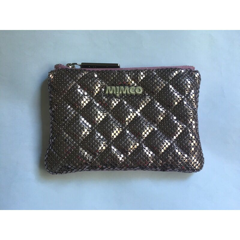 Mimco Quilted Mesh Pouch Purple