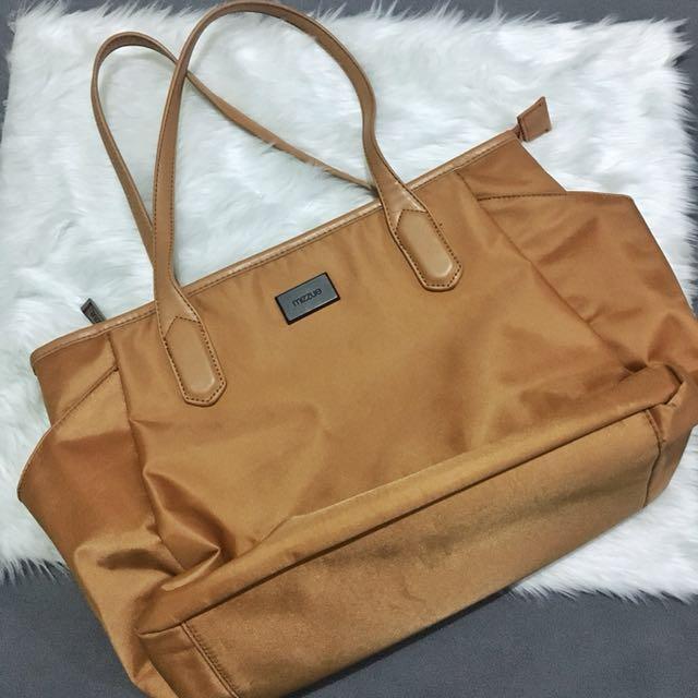 Mizue tan office bag