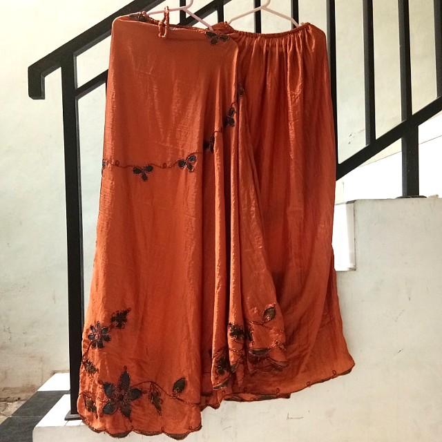 Mukena parasut karita warna orange